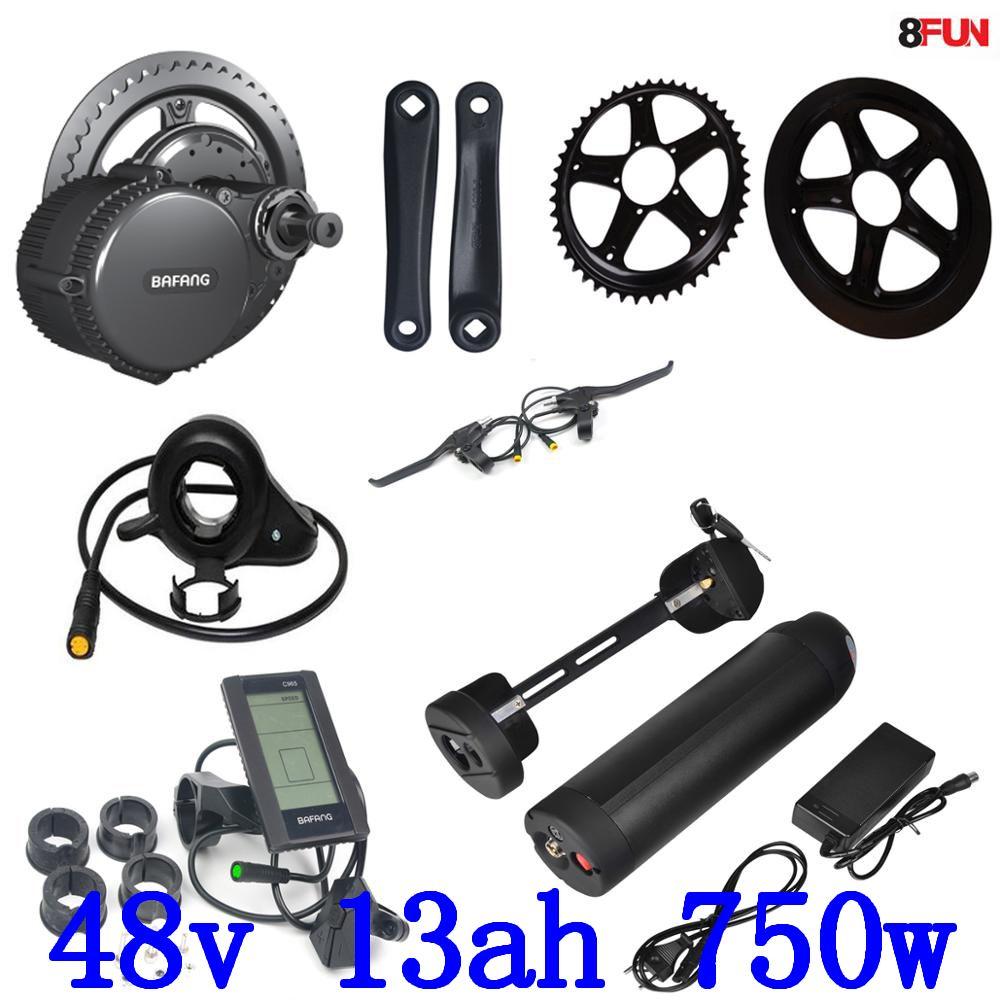 48V Bafang BBS02 750W 48V 8Fun Bike Electric Motor Kit Motor Bicycle Electric With Battery 48V 13AH electric Bike Conversion