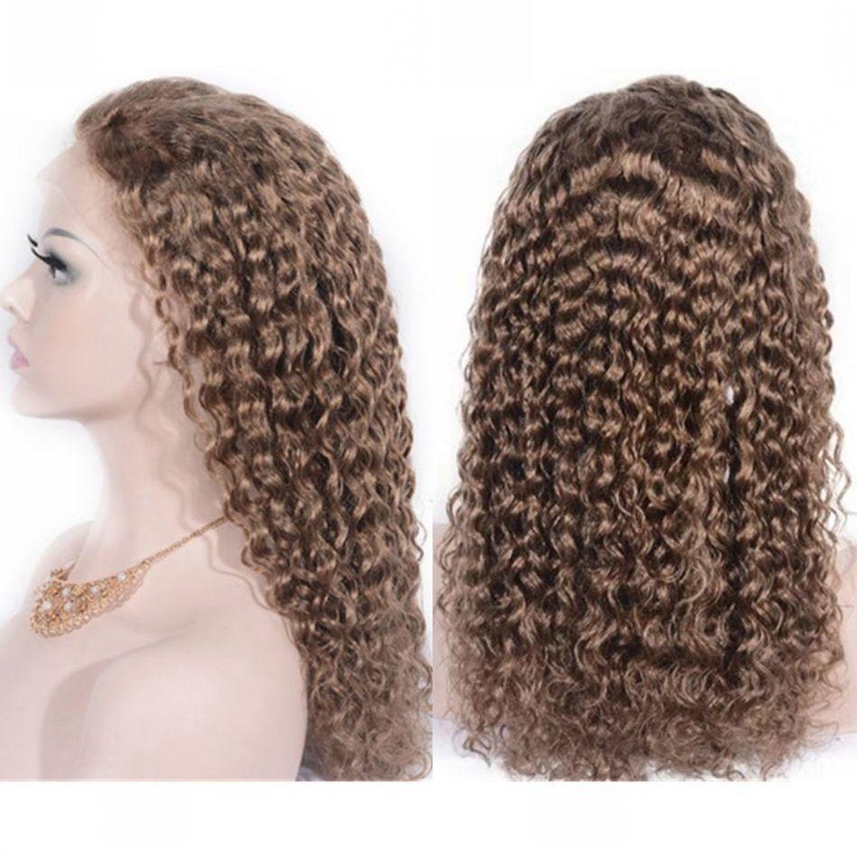 인간의 머리카락 전체 레이스 가발을 위해 흑인 여성 10#캄보디아의 머리 앞 레이스 가발전을 뽑아와 아기 머리