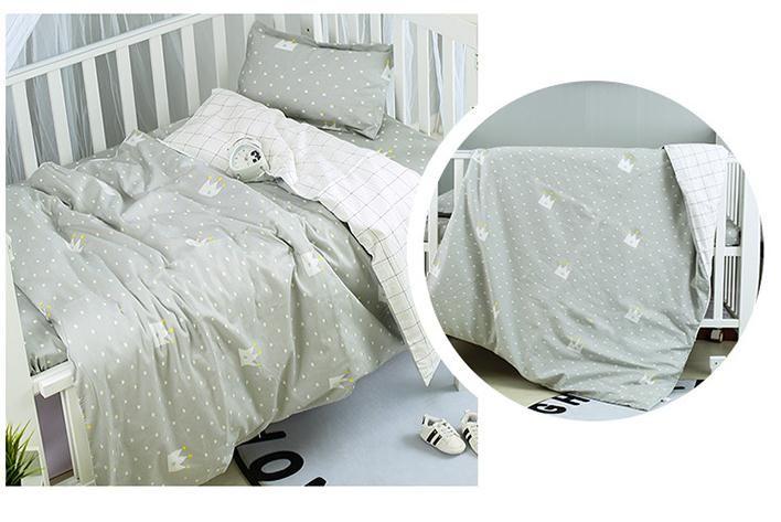 romotion! 3PCS Cartoon Bsby Bedding Sets Bedsheet Types Lovely Kids Bedding Set,(Duvet Cover+Sheet+Pillowcase)