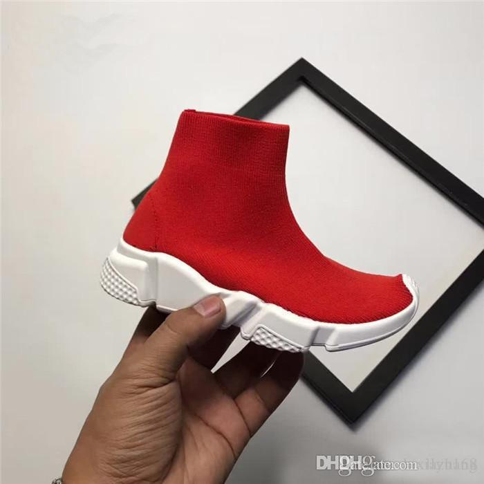 Luxury Sock Shoe Speed Trainer Running Shoes High Quality Sneakers Speed Trainer Sock Race Runners black Sneakers kids Men Sports Shoes