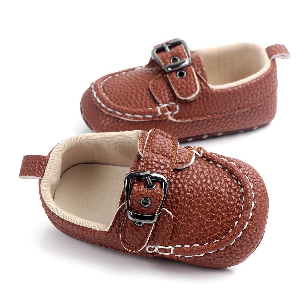 유아 유아 신생아 술 소프트 단독 스웨이드 신발 소년 소녀 신발 모카신 - Gommino 걸쇠 캐주얼 신발 0-18M