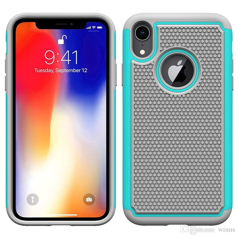 For iphone Xs Max XR 8 7 Plus Hybrid Case Rugged Impact Rubber Matte Shockproof Heavy Hard Case for iphone 5 6s 6plus iphone7 7plus