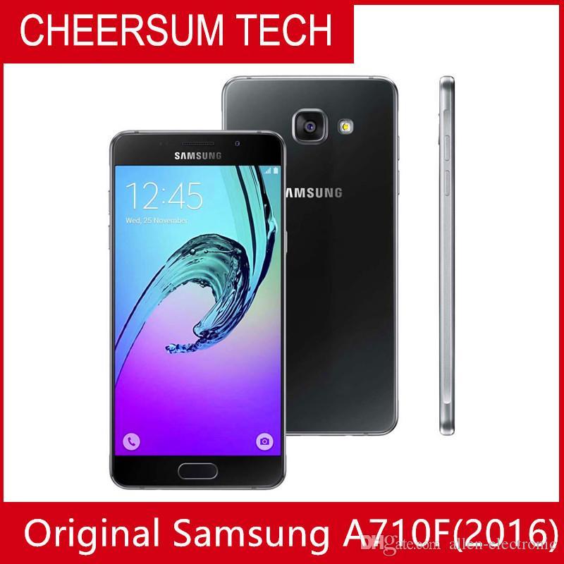 Оптовая продажа разблокированный восстановленный оригинальный Samsung Galaxy A7 A7100 2016 single SIM Cell Phone Octa Core 3GB/16GB 5.5 Inch 13MP 4G LTE free DHL