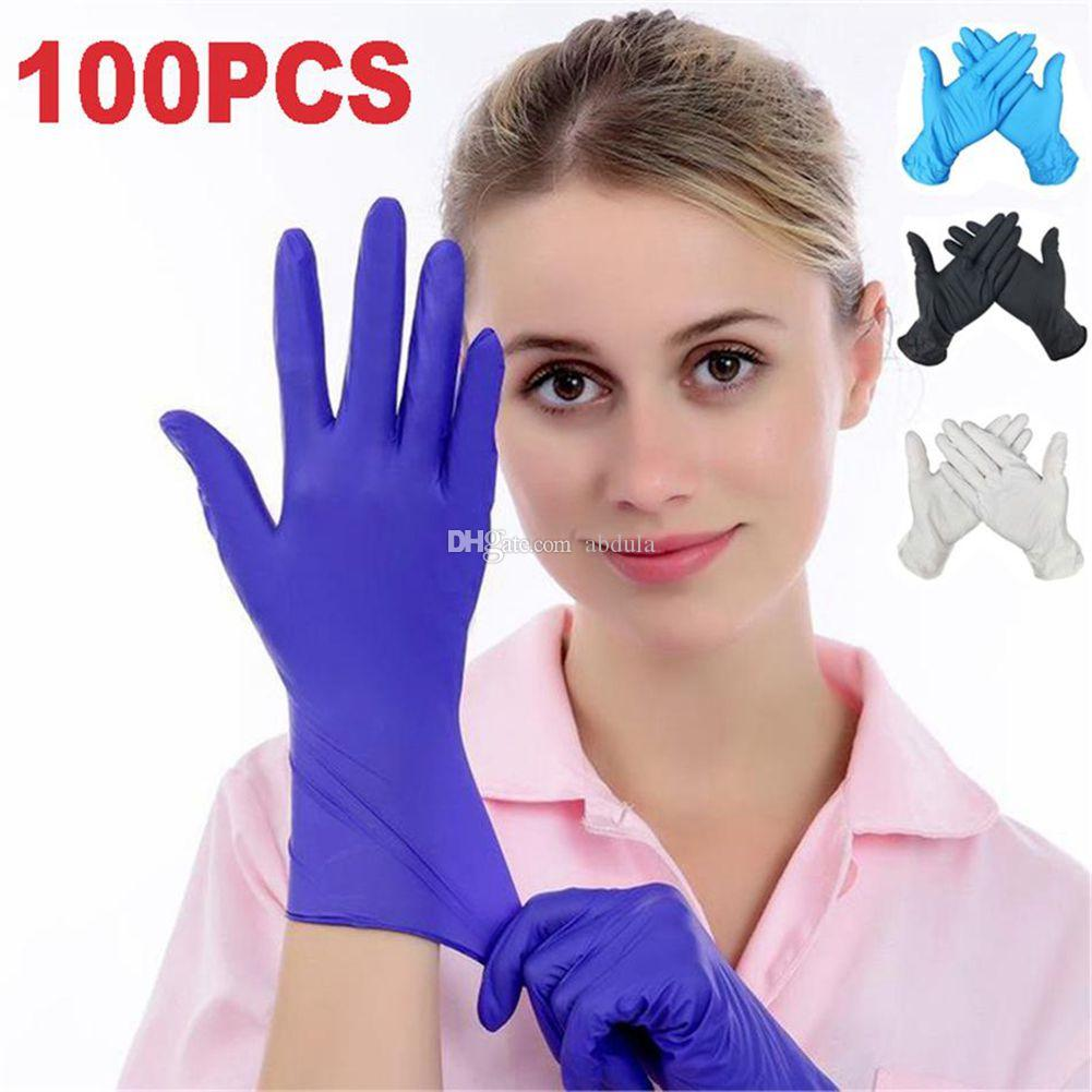 100pcs/pack Disposable Gloves Nitrile Rubber Gloves Latex For Home Food Laboratory Cleaning Rubber Gloves Multifunctional Home Tools