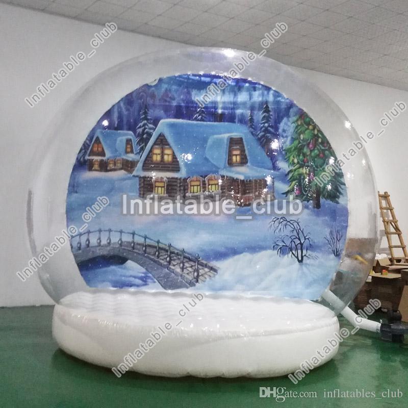 3m Durchmesser aufblasbare Schneekugel zum Verkauf transparenter aufblasbare menschliche Schneekugel Weihnachten Yard-Schneekugel mit Gebläsen