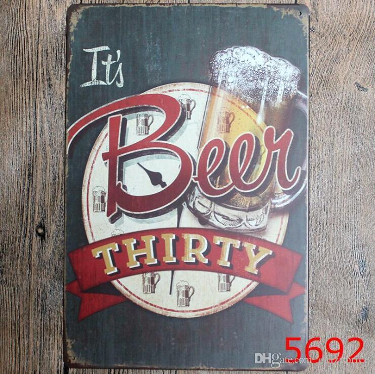Black Beer Metal Signs BBQ Tin Poster Retro Bar Wall Art Painting Steak House Decorative Plaque Home Decor 40 Designs Optional LXL284-A