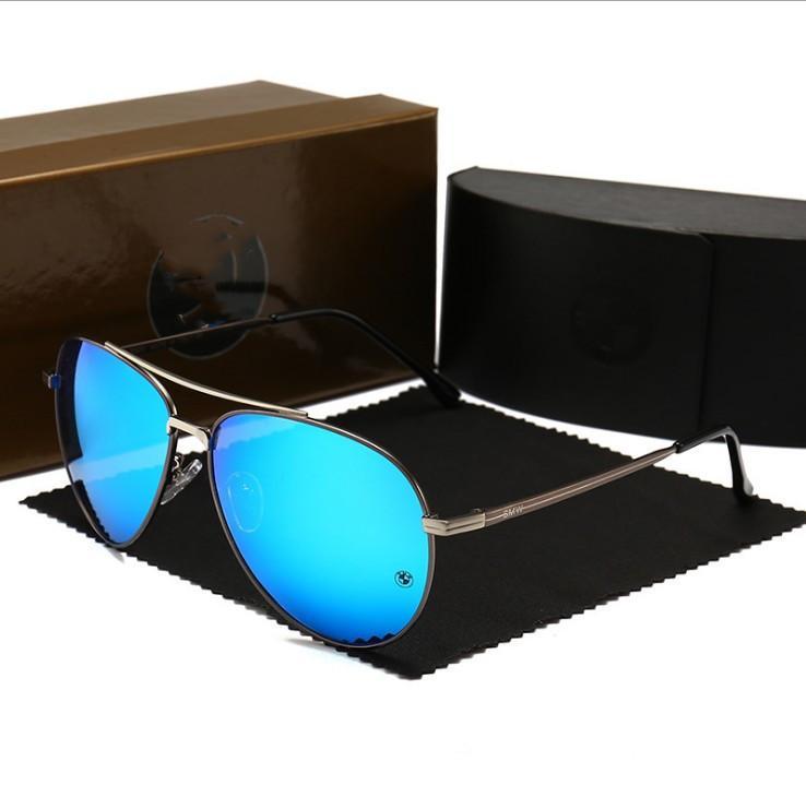 Nuevas gafas de sol de moda para estructura de metal Hombres Mujeres Espejo lentes Polaroid controlador prohíbe los vidrios de Sun con Hip Hop gafas de sol de alta calidad