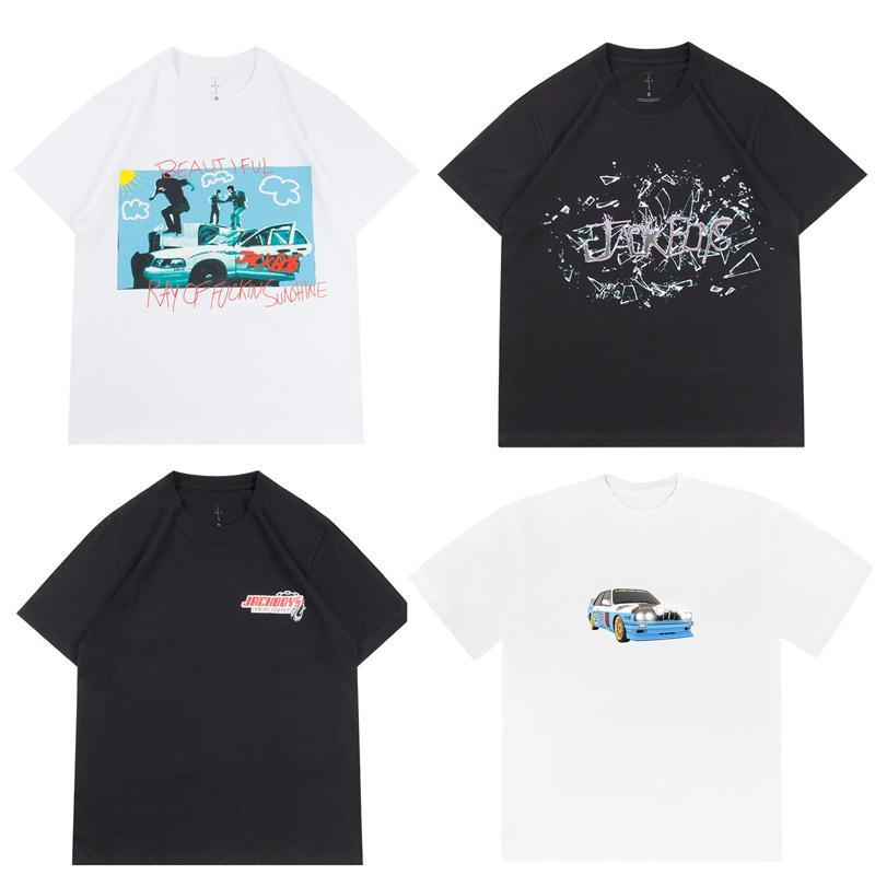 2020ss Ins Sıcak Travis Scott JackBoys Cactus Jack Fotoğraf Tee Kaykay Erkek tişörtleri Kadınlar Sokak Casual Tshirt
