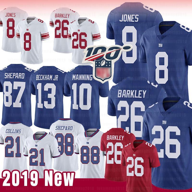 super popular 8c8c8 3e5b8 26 Saquon Barkley New York 8 Daniel Jones Giants Jersey 87 Sterling Shepard  10 Eli Manning 56 Lawrence Taylor 88 Evan Engram Jerseys