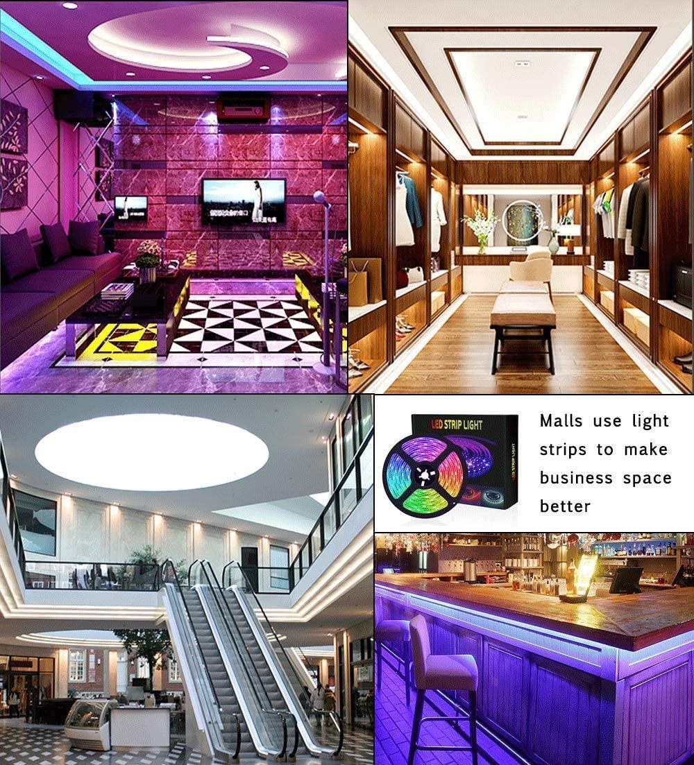 Tam Ev LED Şeritler Işıkları RGB SMD 5050 Esnek Les Şeritler Işıklar 50LED / Metre 16 Sonfferent Static Renkler