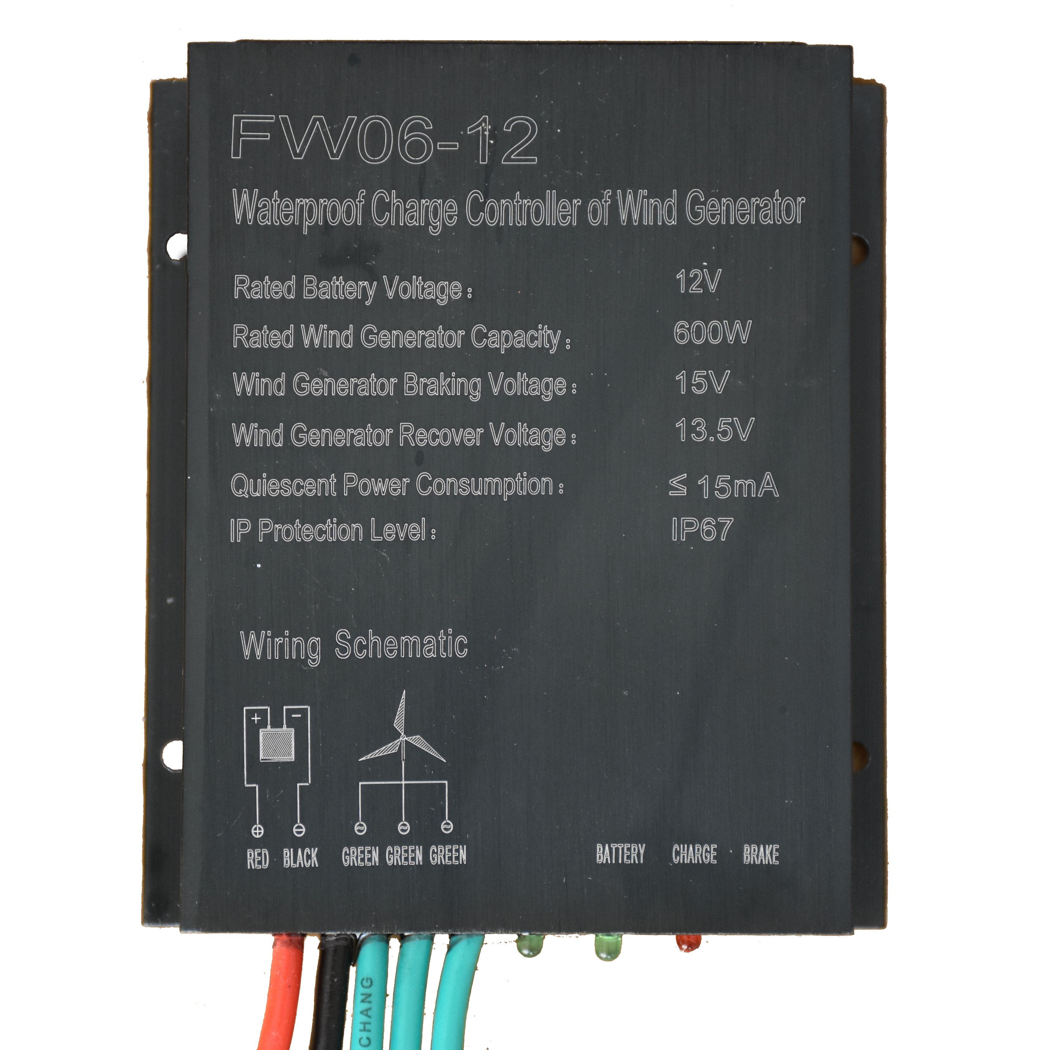 PWM 12V / 24V Auto-Schalter 100W-600W 25A Windgenerator Laderegler Spannung selbstanpasse für die Windturbine