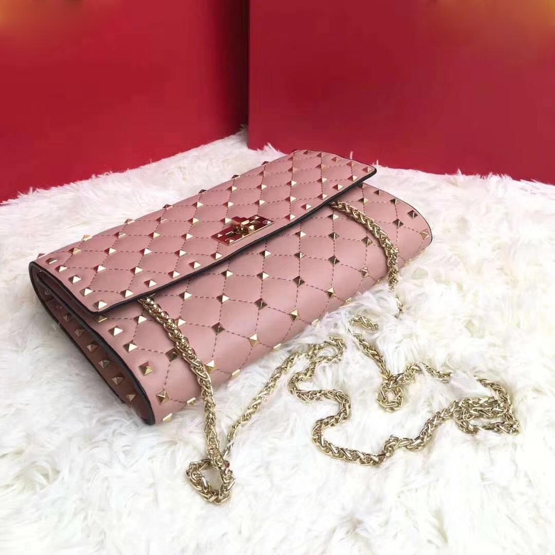 2019 Famous Designer To Quality Bags Rivet Studded Shoulder Bag Women Clutch Rivets Bag Handbag Famous Design Genuine Leather