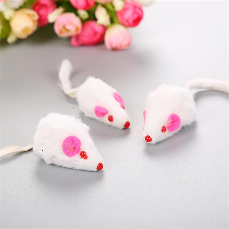Pet Supplies Cat Toys New Candy color line Tube Mouse with Multicolored Feathers Cat Toy 500pcs T1I1944