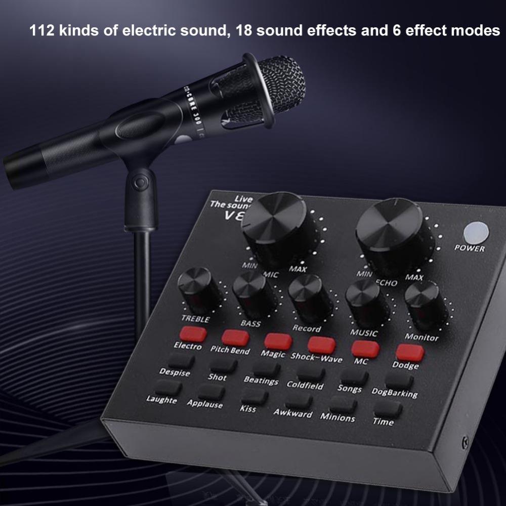V8 Ses USB Harici Ses Kartı Kulaklık Mikrofon Web Yayını Kişisel Eğlence Flama PC Telefonu Bilgisayar için Canlı Yayın