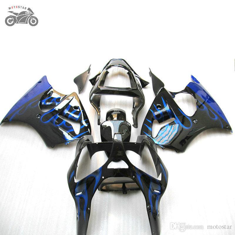 川崎ZX-6R 636 00 01 02 ZX636 ZX6R 2000 2001 2002中国のオートバイABSプラスチックフェアリングキットBodyWork