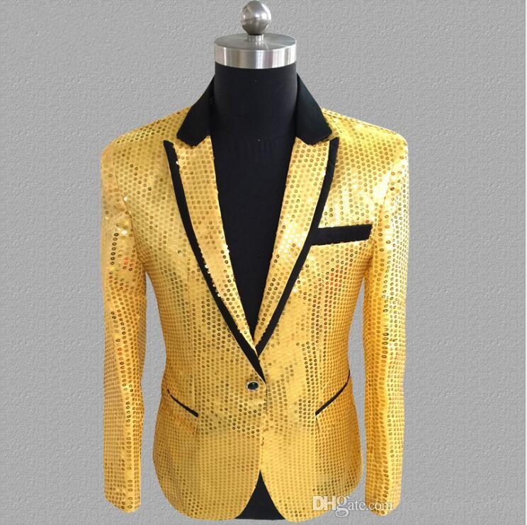O envio gratuito de venda quente dos homens de alta-grade lantejoulas vestir o palco de desempenho desempenho roupas de lantejoulas blazers homens
