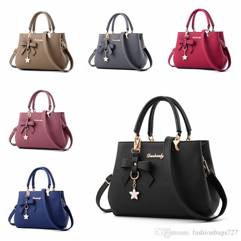 Designer de moda de luxo Bolsas Bolsas Bandoleira Sacos das mulheres Bolsas de Ombro Pu Ladies couro Shoulder Bag Tote Bag Casual Trabalho Preto (vermelho)