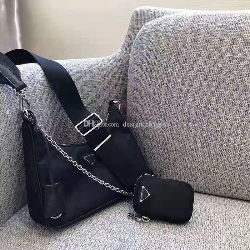 Online Berühmtheit Crescent Paket Umhängetasche Nylon Reißverschluss Mutter und Kind Paket Breite Schulterriemen Kette einzelne Schultertaschen