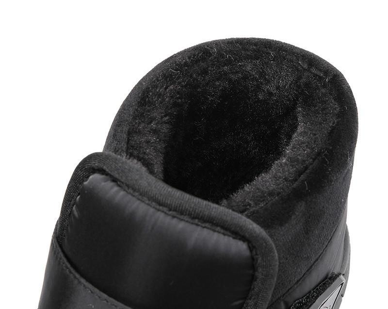 El resbalón de las mujeres botas al aire libre respirable en invierno terciopelo top del alto de los pares de la nieve Botas para hombre grueso al aire libre zapatos calientes de algodón