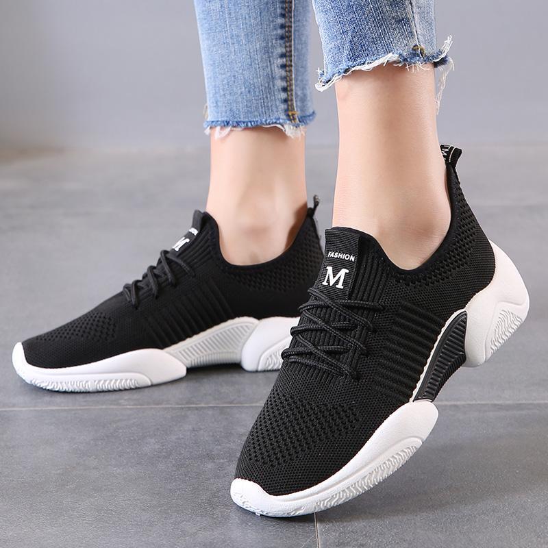 المرأة ذات جودة عالية سميكة وحيد لينة حذاء رياضة المرأة الاحذية أحذية Zapatos موهير أنثى الرياضة السيدات المطاط المشي أحذية الوردي