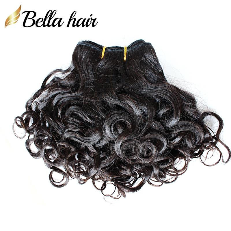 Brazilian Virgin Human Hair Extensions Funmi Hair Weaves Spring Curly Natural Color Hair Weft Bellahair Free Shipping