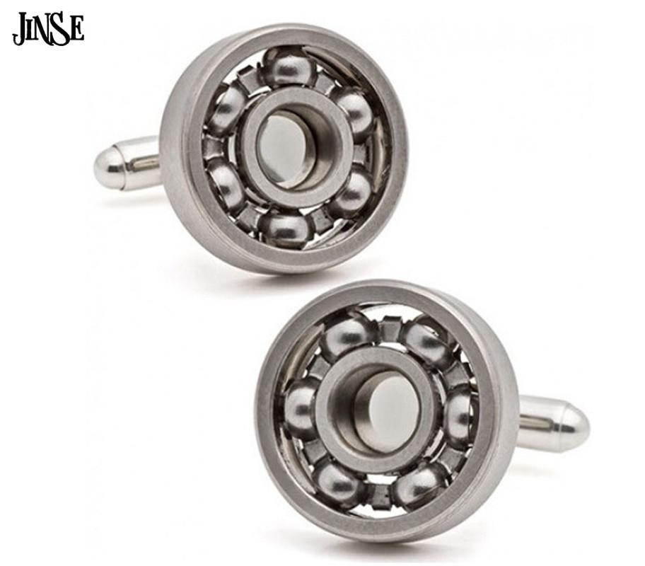 Tasarım Kol Düğmeleri CFL073 Rulman Mekanik Vintage Metal Renk Kol Düğmeleri Fonksiyonel Dönebilir Çeşitlilik Rulman Jinse Topu