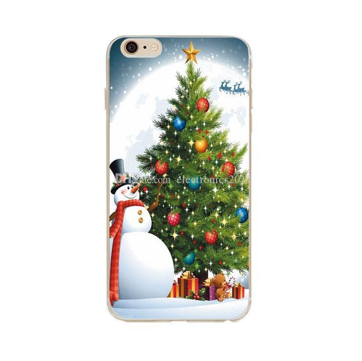 Santa Claus TPU Soft Phone Case pour iPhone Xs Max XR Xs Téléphone Coques Shell Couverture Pour iPhone X 6 6s 7 8 Plus Cadeau De Noël de Bande Dessinée