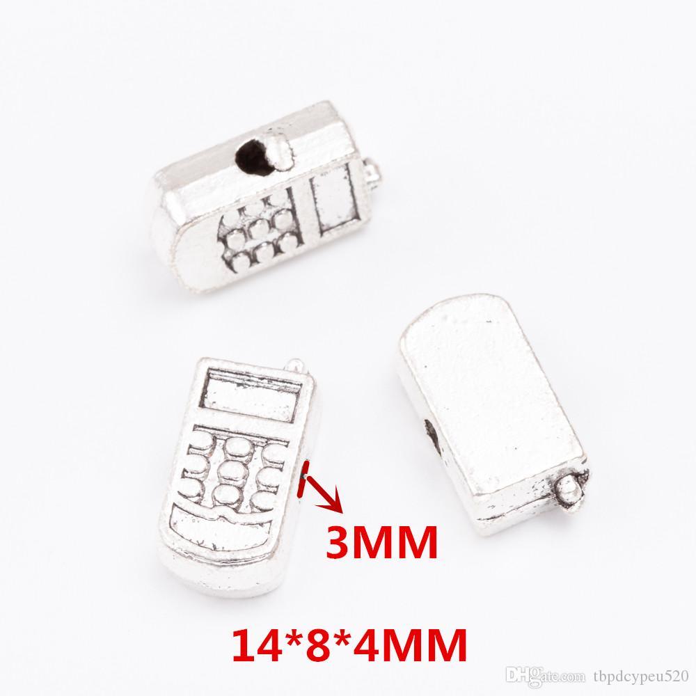 gros métal vintage charmes en alliage de zinc téléphone portable perles petit trou Pendentif pour Bijoux bricolage 6912