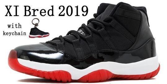 2019 разводят 11 11s мужская баскетбольная обувь Женская розовая змеиная кожа темно-синий свет кости Космический джем гамма синий Конкорд кроссовки США 5.5-13