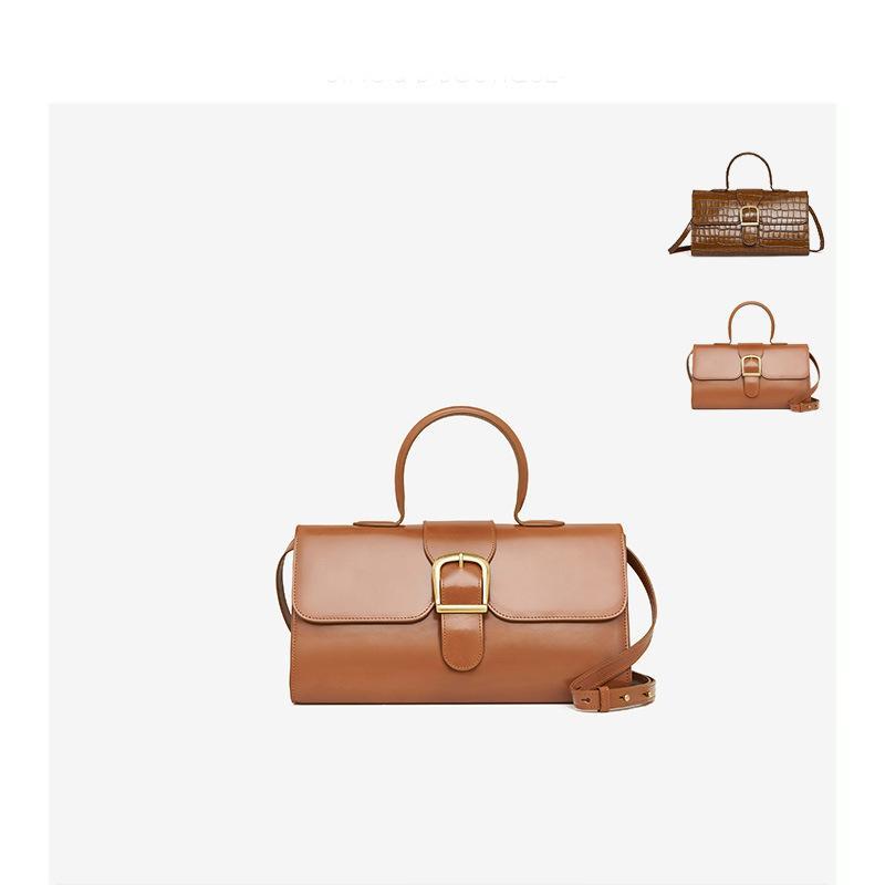 2020 nouveau cuir de sac à bandoulière femmes simples couleur unie sac à main grand crocodile sac à main dames rectangulaires sac à bandoulière rétro