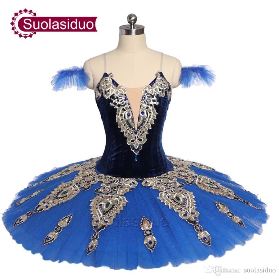 Adult Blue Professional Ballet Tutu Costumes Women Classical Ballet Skirt Apperal Girls Ballet Dance Performance Dresses Children Dancewear