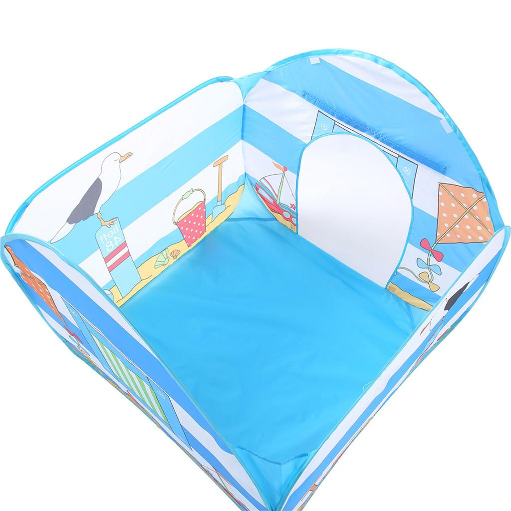 Kids Teepee Children Play House Cotton Bed Seaside Tent Foldable Crib Tent Baby Room Decor Birthday Gifts Outdoor Toy House