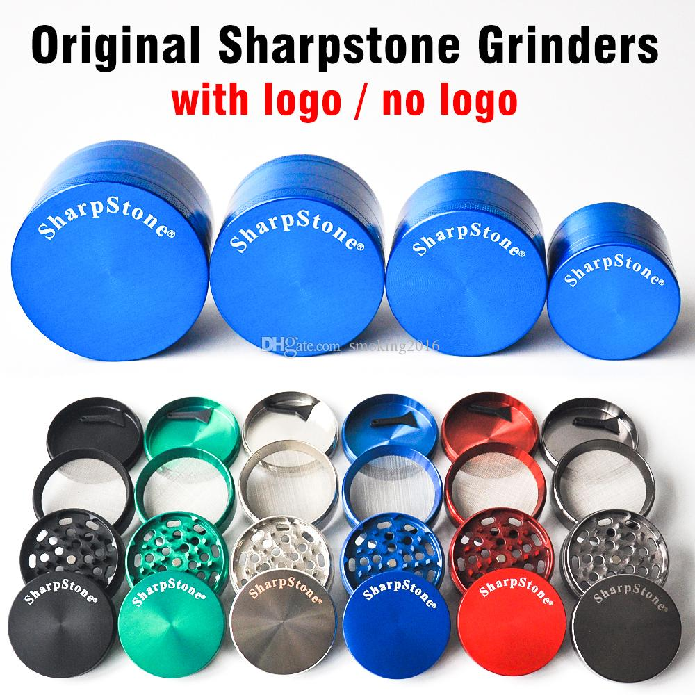 SharpStone Herb Grinder 40mm 50mm 55mm 63mm 4 parties de broyeur de tabac cnc dents filtre net sec stylo vaporisateur d \