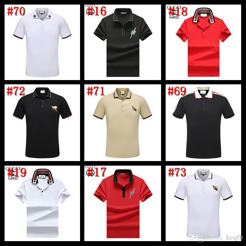 99SS Luxury Italy Tee T-Shirt Designer Polo Shirts High Street Embroidery Garter Snakes Little Bee Printing Clothing Mens Brand Polo Shirt