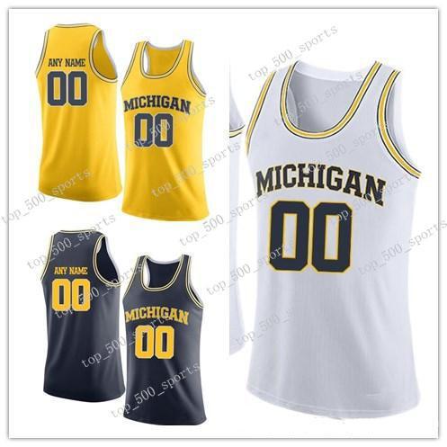Personalizado 10 Hardaway 35 Hubbard 23 LeVert 41 Arroz 1 Robinson III 33 Russell 11 Stauskas Tarpley Michigan Wolverines College Basketball Jersey