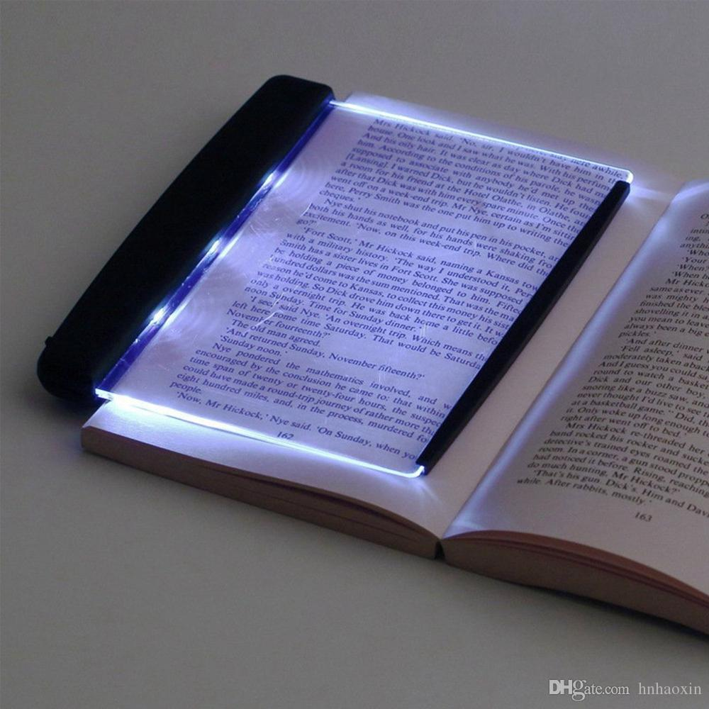 HaoXin الإبداعية لوحة مسطحة LED حماية الكتاب الضوء القراءة ليلة الخفيفة المحمولة السفر عنبر بقيادة مصباح مكتب العين للنوم الرئيسية