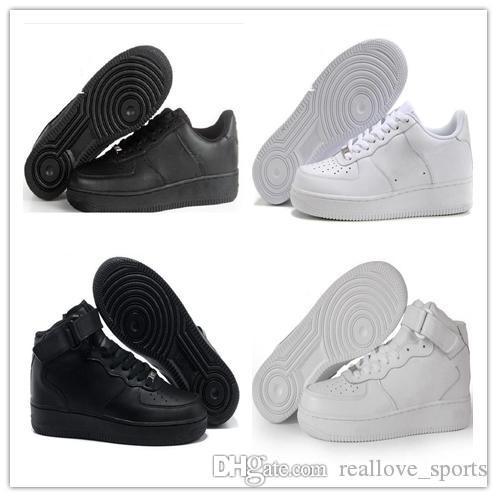 NIKE Air Force 1 Leather AF1 2018 Новые высококачественные мужские сетчатые полусапожки Forcd Дышащие унисекс 1 вязаная евро мужская женская дизайнерская обувь basketba