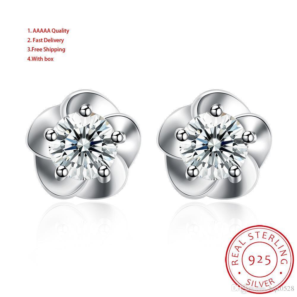 925 Silver Mix Women's Sh E0001 Flowers And Plants Earring Jewelry Lots Sapphire Chandelier Earrings