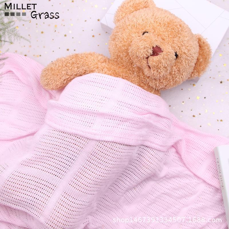 Bambino coperte a maglia in cotone 100% Swaddle bambini Swaddle wrap wrapping Sleeping 100 * 80cm dei nuovi bambini di Born Capes Mats Bedding