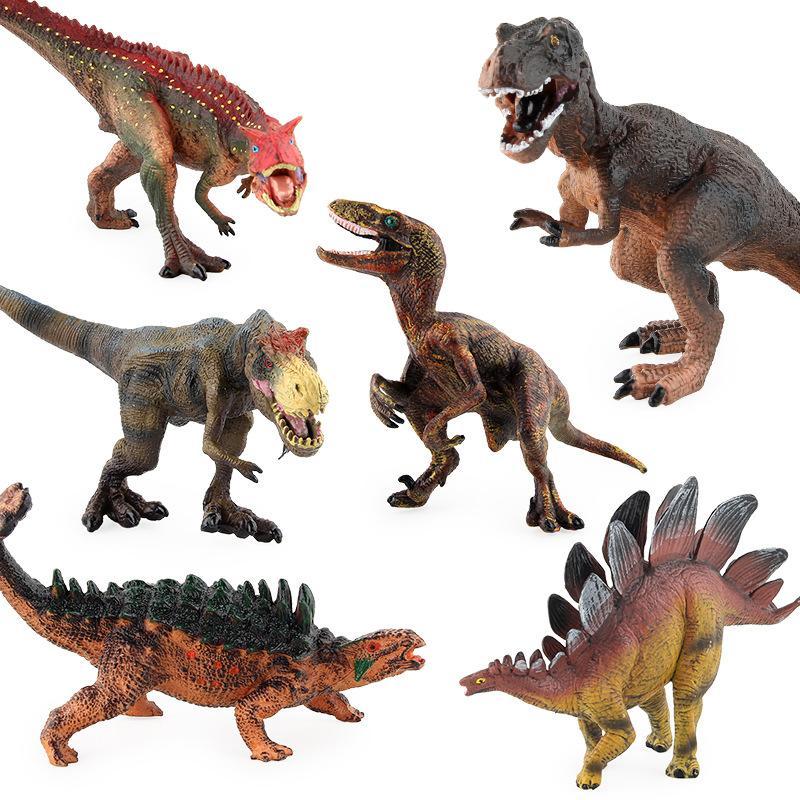 Dinosaurio hotSelling simulado Modelo animal rápido y violento dragón T-Rex Stegosaurus plástico estático modelo de juguete
