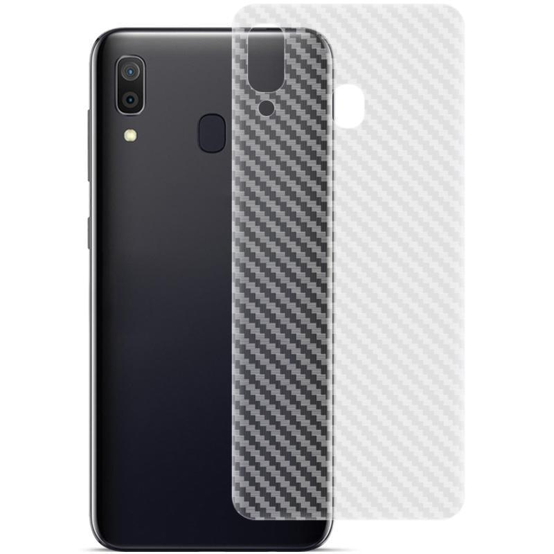 Galaxy A30 IMAK Karbon Elyaf Desen PVC Geri Koruyucu Film İçin