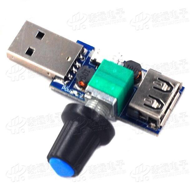3 pz USB Regolatore di velocità della ventola / velocità del vento, regolatore del volume d'aria / regolazione multipla dell'ingranaggio