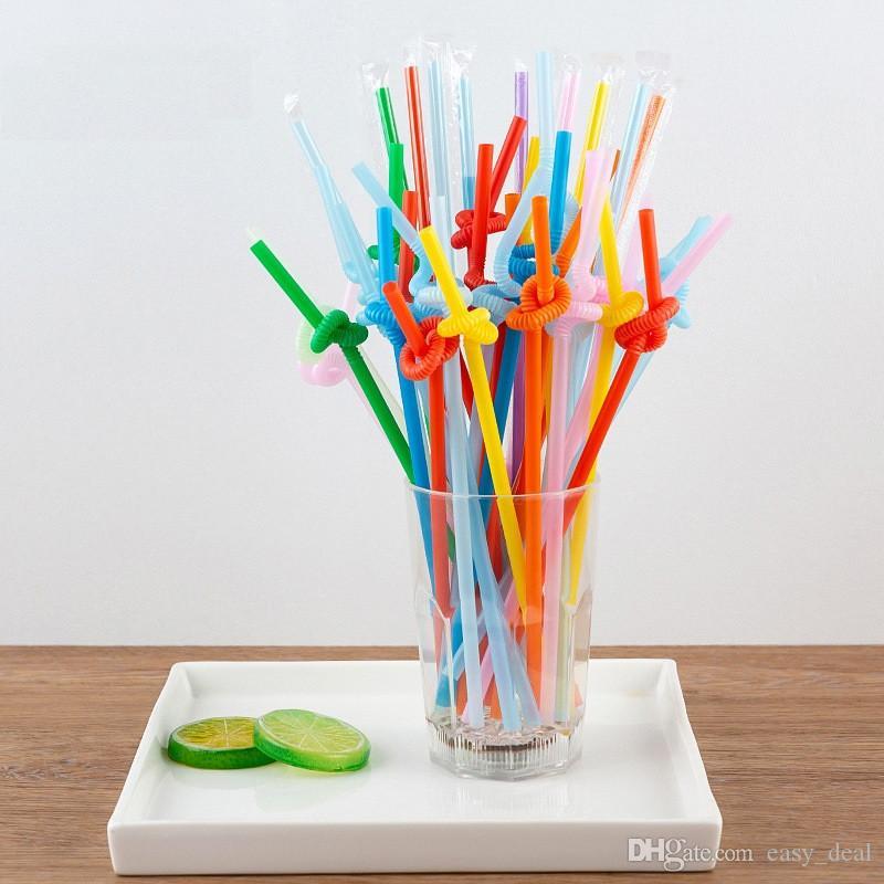 Parlak renkli Plastik bükülebilir Içme Parti Payet tek kullanımlık Içecek Payet düğün dekor karışık renkler Parti malzemeleri yq01480