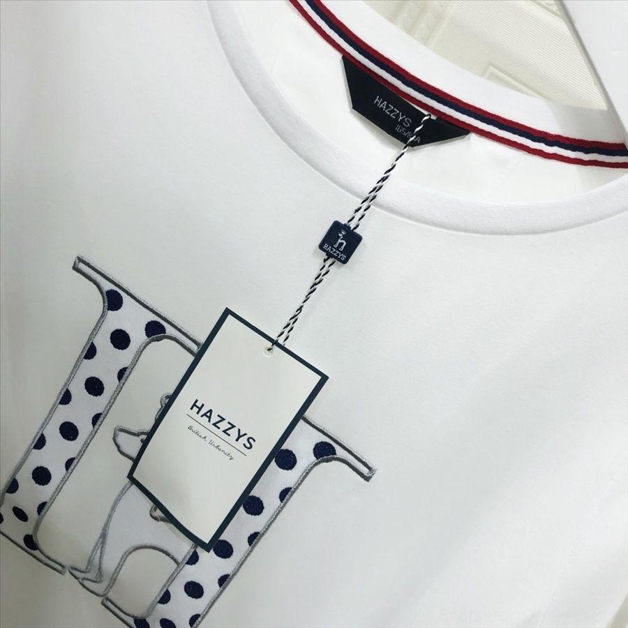 051408 hajess skin-friendly air T-shirt 2020 cotton short-sleeved round collar women's style 051408 hajess skin-friendly air T-shirt 2020 co