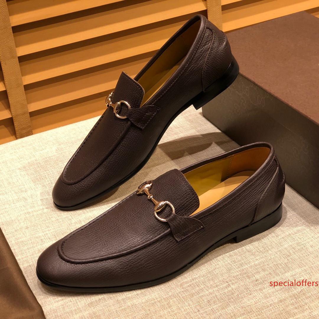 19SS mens mocassins chaussures de broderie point de métal cadeau Skulls luxurys marque chaussures formelles mocassins gris Taille récent Eur38-45 de MADAOB