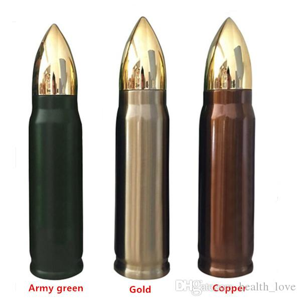 Bullet Fiole Bouteille d'eau Bouteille en acier inoxydable Thermos à double paroi à isolation sous vide Coupe plateau Bullet Fiole tasses tasse de