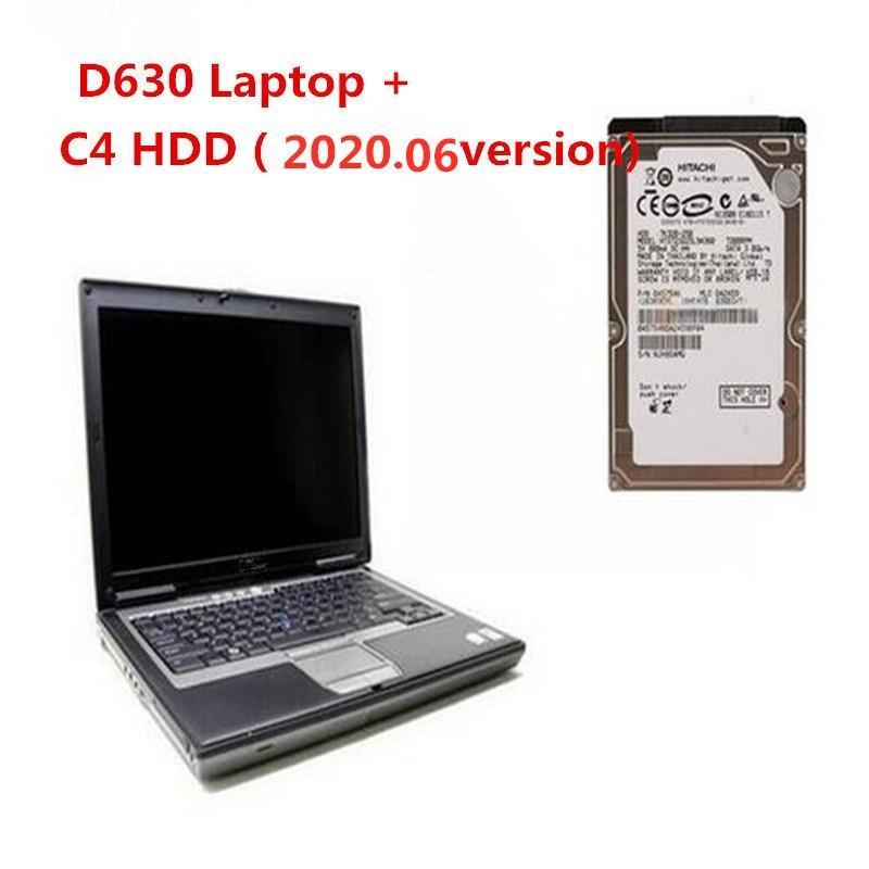 Professional 2.020,06 recém versão MB Estrela C4 Software HDD Win10 320G para Mercedes para diagnóstico benz com D630 PORTÁTIL