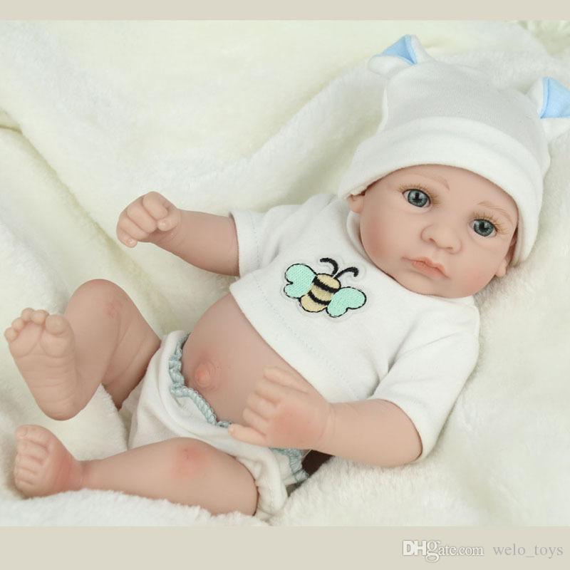Reborn Baby Dolls LifeLike Silicone Newborn Boys Reals Realistic Babies Dolls Ванна Игрушки Детские Рождественские Подарок