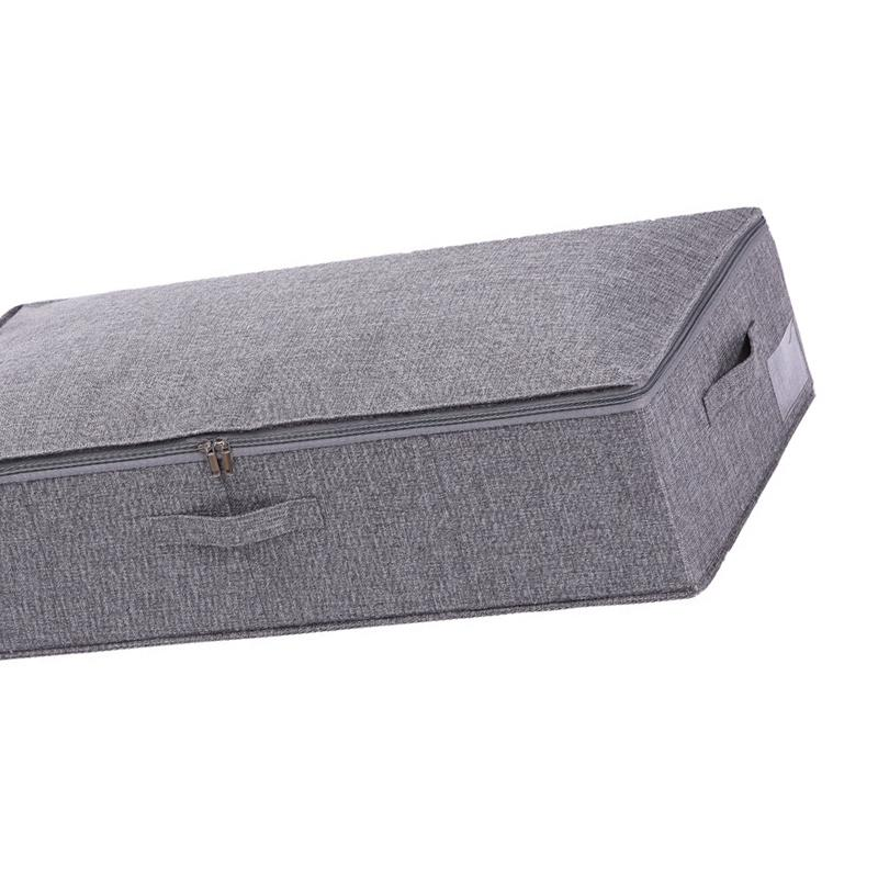 Под кроватью Бункеры для хранения с крышкой, под кроватью обуви Организатора, Чердак хранения Box Underbed сумка хранения