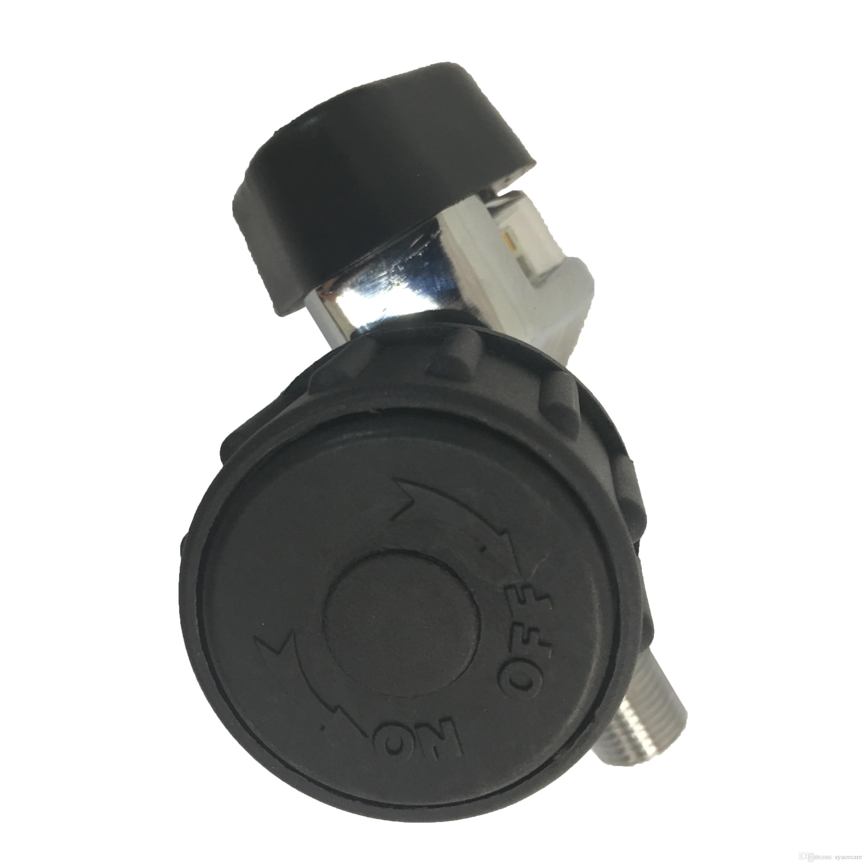 Pcp 300bar 4500Psi Válvula De Cilindro De Ar para SCBA Cilindro De Fibra De Carbono / Paintball Tanque com Calibre De Pressão Grande Acecare